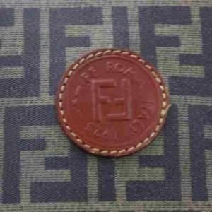 Fendi Ff Monogram Zucca Boston Dome Tobacco 860001 Brown Pvc Satchel