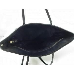 Fendi Ff Monogram Zucca Roll Tote 239762 Black Coated Canvas Shoulder Bag