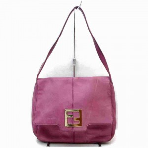 Fendi Flap Mama Forever Logo 872996 Pink-purple Leather Shoulder Bag