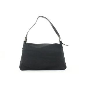 Fendi Black Mama Forever Shoulder Baguette Flap Bag 47ff125