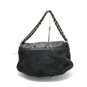 Fendi Forever Mama Ff Chain Flap M239776 Black Lambskin Leather Shoulder Bag