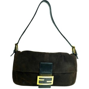 Fendi Forever Mamma Flap Momma Mama 2f610 Brown Suede Baguette