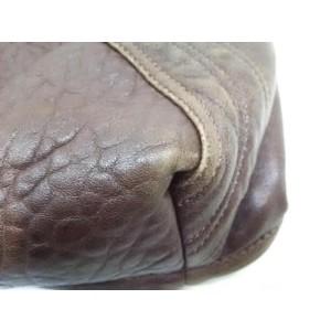 Fendi Hobo Spy Woven 239784 Dark Brown Leather Shoulder Bag