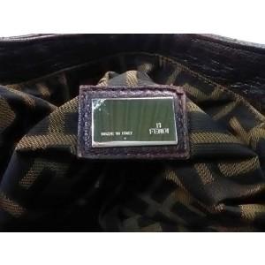 Fendi Hobo Spy Woven Handle 239790 Dark Brown Leather Shoulder Bag