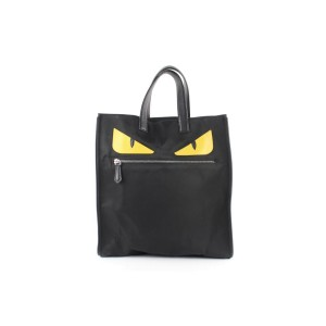 Fendi Bag Limited Monster Eyes 9fe0108 Black Nylon Tote