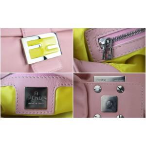 Fendi Pink Leather Mamma Baguette 131ff429
