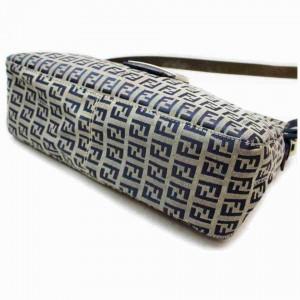 Fendi Monogram FF Mama Forever Baguette Flap Navy Blue 858176