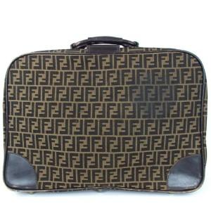 Fendi Monogram Ff Zucca Suitcase Luggage 860111 Brown Canvas Weekend/Travel Bag
