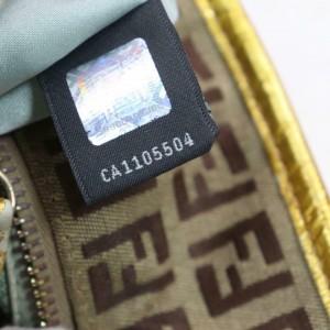 Fendi Monogram Ff Zucca Zippered Roll 871563 Beige Canvas Tote