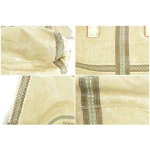 Fendi Selleria Horse Logo 232671 Beige Coated Canvas Tote