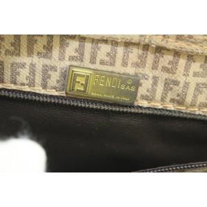 Fendi Brown FF Monogram Zucca Zip Tote bag 8ff114