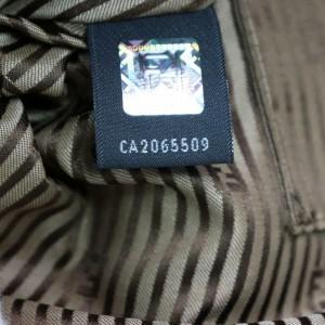 Fendi Tri-color Chameleon Large Tote 870479 Brown Leather Satchel