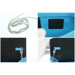 Fendi Wallet on Chain Flap Vitello Tube 3fz0911 Blue Leather Cross Body Bag