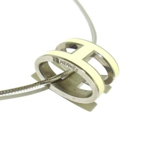 HERMES Silver Pop H Necklace