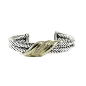 David Yurman Wave Cuff 14K Yellow Gold, 925 Sterling Silver Bracelet