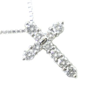 TASAKI diamond/Pt900Platinum/Pt850Platinum cross Necklace