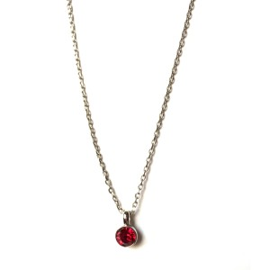 Swarovski Necklace with Red Crystal Pendant