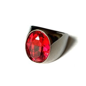 Red Crystal Swarovski Ring