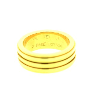 Piaget G34PP400 Possession Yellow Gold Band Ring Sz 56