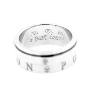 Piaget G34PX200  Possession White Gold 2-Dia Movable Ring Sz 55
