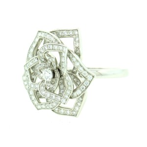 Piaget White Gold Diamond Rose Ring