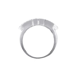Bulgari 18K White Gold 0.96ctw Diamond Rings Size 6.5