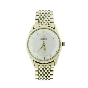 Omega Automatic Gold Filled Mens Vintage 1950s Watch