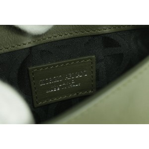 Giorgio Armani Logo Flap-top 27gk0124 Green Leather Cross Body Bag