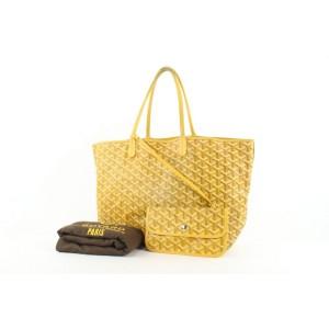 Goyard Yellow Chevron St Louis PM Tote Bag with Pouch 229gy55