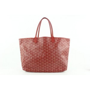 Goyard Red Chevron St Louis PM Tote bag with Pouch 230gy55