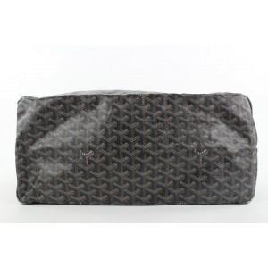 Goyard Large Black Chevron St Louis GM Tote Bag with Pouch 882gy413