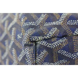 Goyard Navy Blue Chevron St Louis PM Tote Bag 257gy56