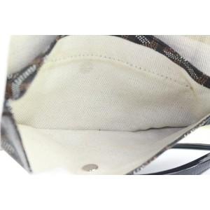Goyard Black Chevron St Louis PM Tote Bag with Pouch 771gy41