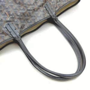 GOYARD Black Chevron St Louis Tote Bag with Pouch 862927