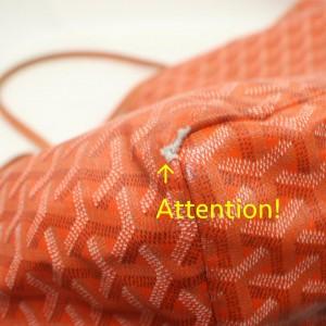 Goyard Orange Chevron St Louis Tote Bag with Pouch 863093