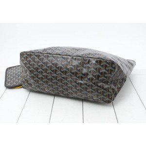 Goyard Black Chevron St Louis Tote Bag with Pouch  858829
