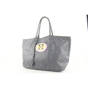 Goyard Ultra Rare Grey Chevron St Louis Tote Bag 54gy423