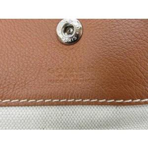 Goyard Black X Brown Chevron St Louis Pouch Case 239725 Wallet