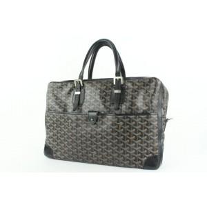 Goyard Black Chevron Ambassade GM Attache Briefcase bag 936gy415