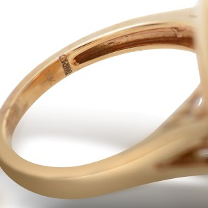 Gregg Ruth 18K Rose Gold Multi-Diamond Clover Ring