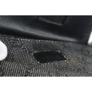 Gucci Charcoal Denim Monogram GG Belt Bag Fanny Pack Waist Pouch 163gks53