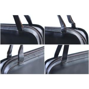 Gucci 1gr0306 Black Matte Patent Leather Satchel