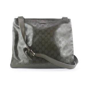 Gucci Forest Green Monogram Imprime Messenger Crossbody Bag 664gks317