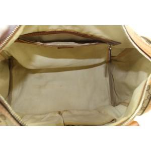 Gucci Brown Monogram GG Web Joy Boston Bag 713gks323