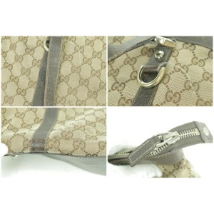 Gucci Abbey Monogram Tote 12gk0103 Brown Gg Canvas Shoulder Bag