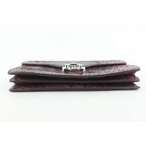 Gucci Purple Python Small Lady Lock Top Handle Clutch 123gks429