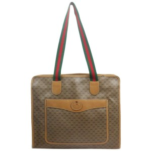 Gucci Micro GG Monogram Web Zip Tote Bag 863077