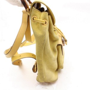 Yellow Suede Bamboo Backpack 867509