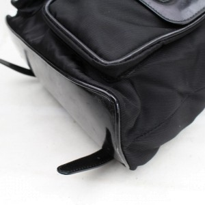 Gucci Bamboo 867648 Black Patent Leather Backpack