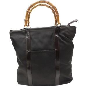 Gucci Bamboo 869135 Brown Nylon Tote